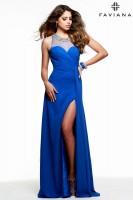 Faviana 7588 Illusion Chiffon Evening Dress image