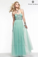 Faviana 7590 Stretch Tulle Evening Dress image