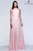 Faviana 7592 High Neck Chiffon Evening Dress image