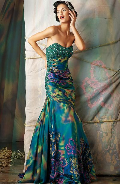 Macduggal Couture Fabulous Evening Dress 75975d French