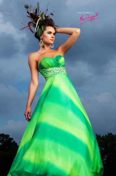 Ballgowns by macduggal empire tie dye prom dress 75979h for Dyeing a wedding dress professionally