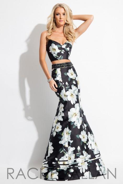 166f31736316c Rachel Allan 7604 Floral 2 Piece Prom Dress: French Novelty