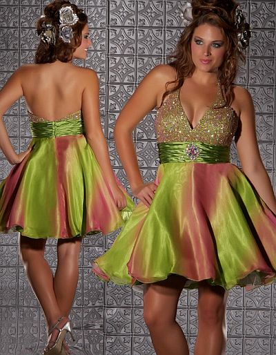 Fabulouss Colorful Short Plus Size Prom Dress by MacDuggal 76202F ...
