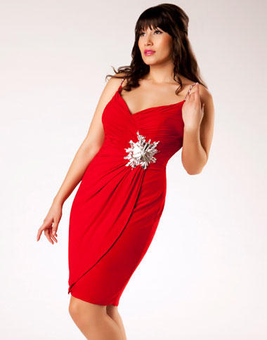 Red Cocktail Dress Plus Size