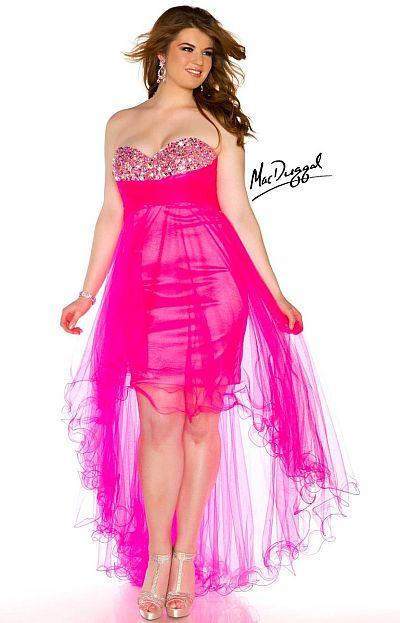 10dd59826d1 MacDuggal 76467N Plus Size High Low Dress  French Novelty
