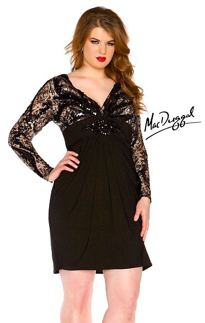 Plus size formal dress sleeves