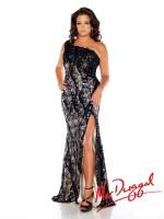 Size 14W Black-Nude MacDuggal Fabulouss 76624F One Shoulder Plus Dress image