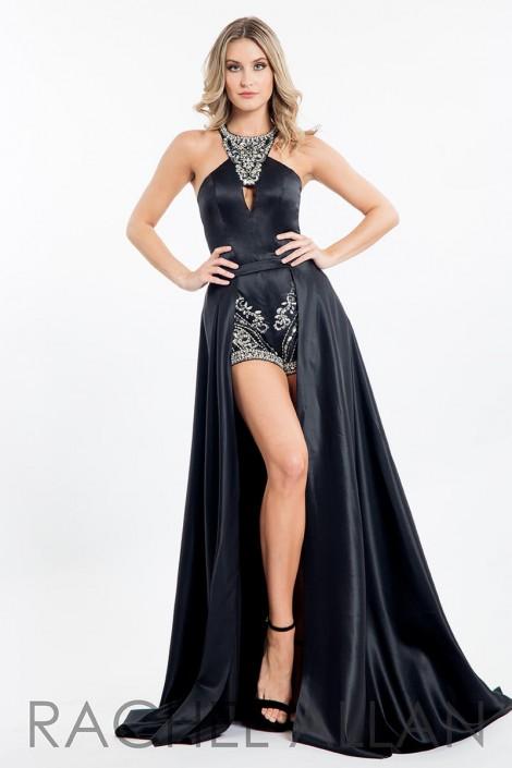 1b20679d5396 Rachel Allan 7672 Romper with Detachable Long Skirt  French Novelty