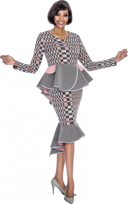 c2c927a13f Terramina 7694 Ladies High Fashion Church Suit  French Novelty