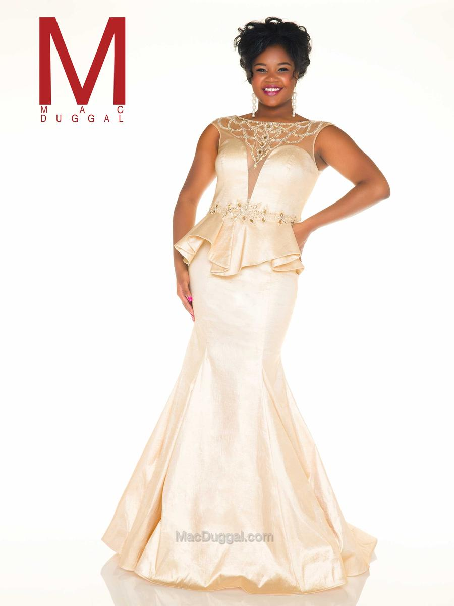 Gold dress for plus size
