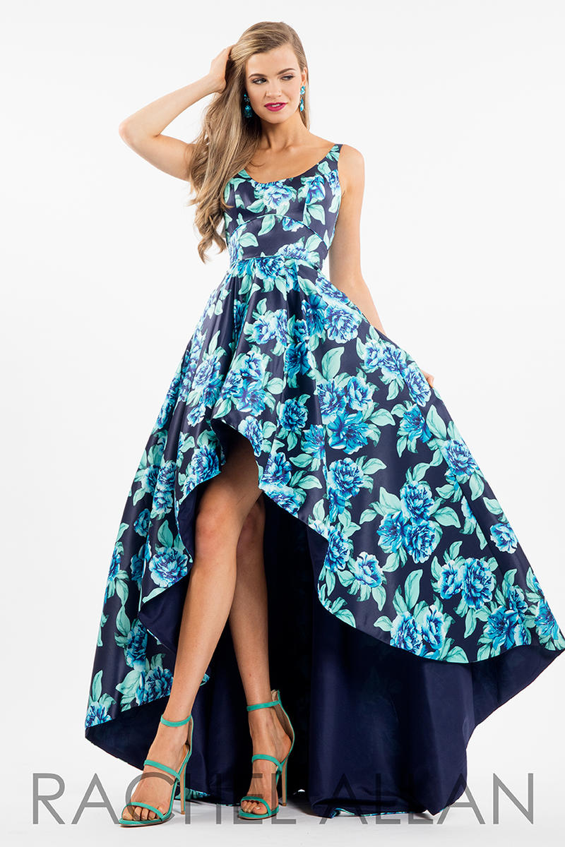Style 52530 from Sherri Hill is a one shoulder floral