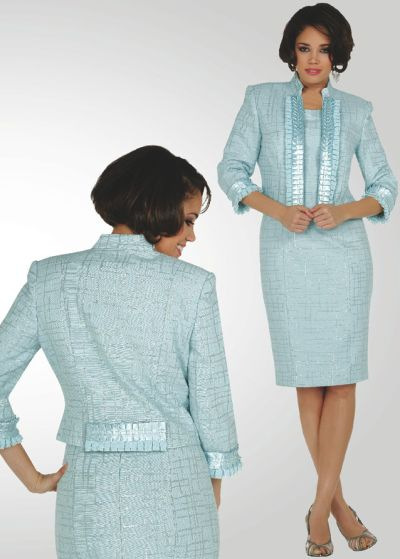 Stacy Adams Womens Brocade Church Suit 78123 by BenMarc: French Novelty