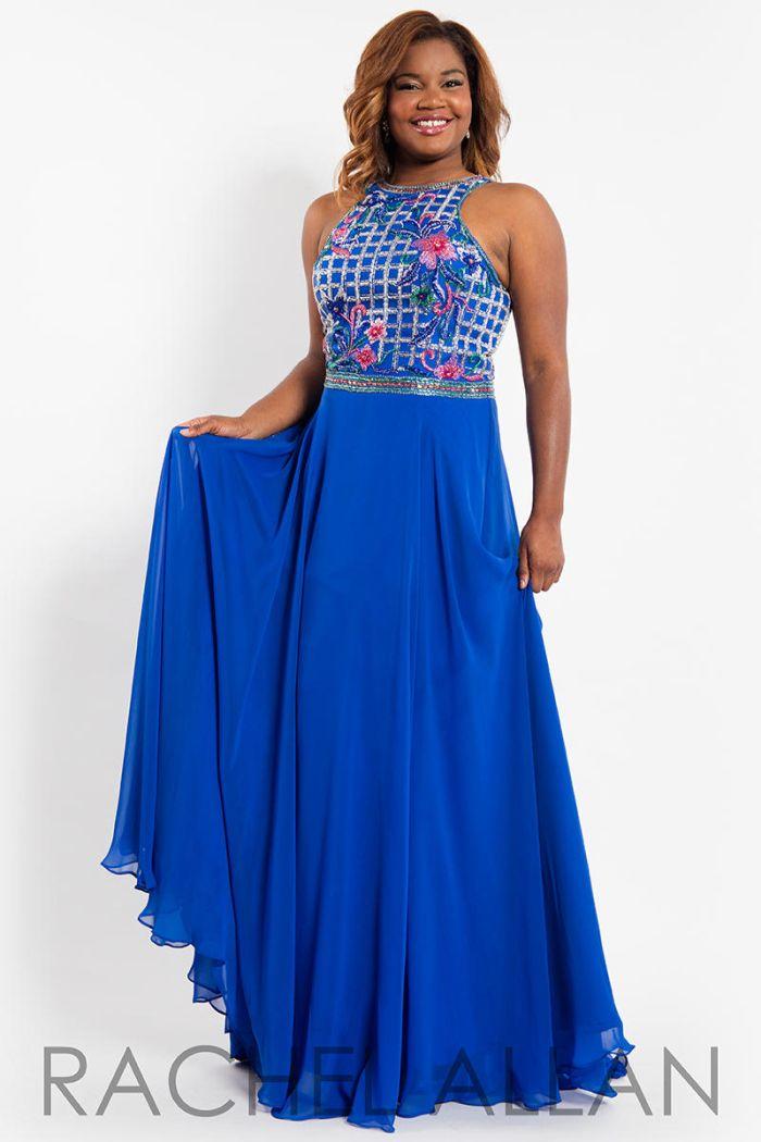 Rachel allan curves 7814 beaded floral plus size gown for Wedding dress shops st louis mo