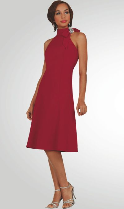 Stacy Adams Womens Red Stretch Cocktail Dress 78194 By