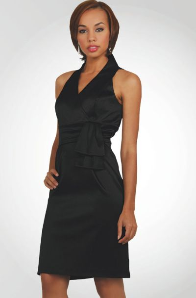 5b712886775 Stacy Adams Womens Black Sleeveless Stretch Satin Dress 78205  French  Novelty