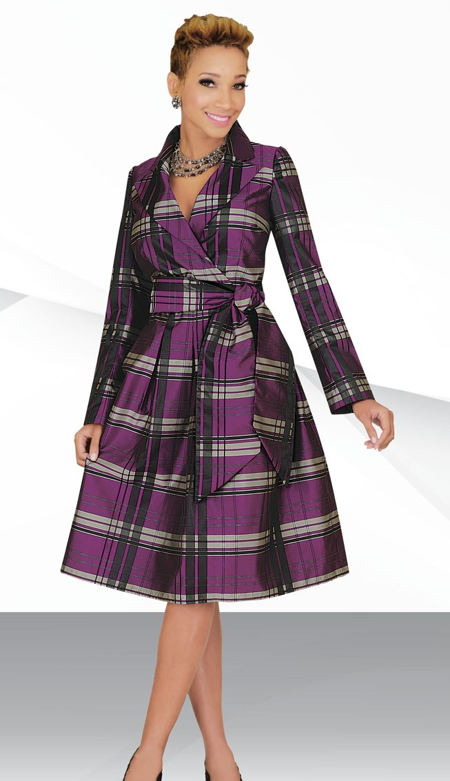 Ben Marc Stacy Adams 78211 Plaid Church Dress: French Novelty