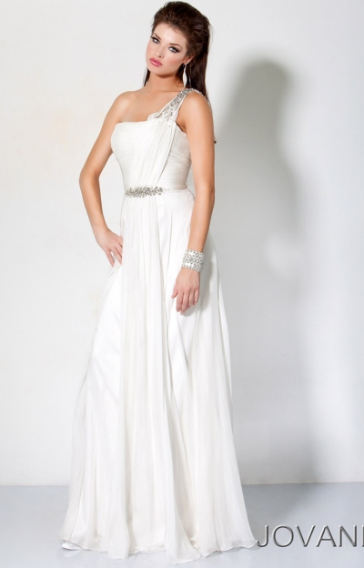Jovani Greek Goddess Shoulder Prom Gown 7825 Image ...