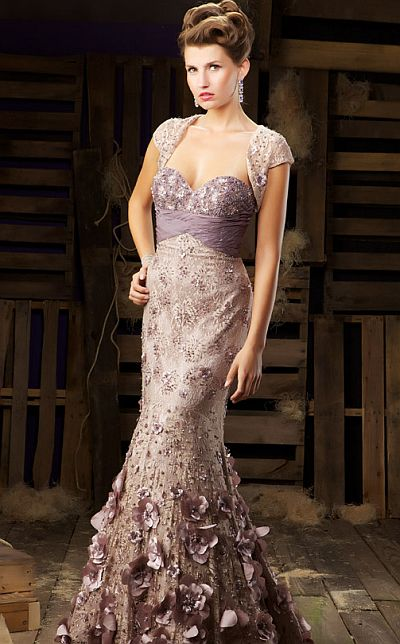 MacDuggal Couture Evening Dress with Flower Petals 78360D: French ...