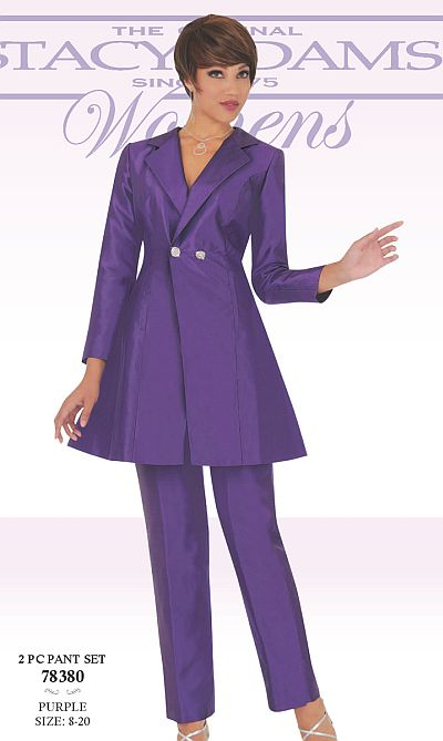 Ben Marc 78380 Stacy Adams Womens Pant Suit: French Novelty