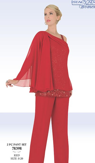 Ben Marc 78398 Stacy Adams Womens Pant Suit: French Novelty