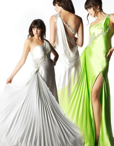White Evening gown for Greek goddess theme whz891 [Prom Evening