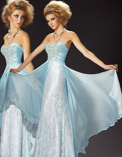 MacDuggal Couture Classic Ice Princess Ball Gown 78437MD: French Novelty