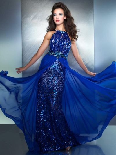 MacDuggal 78759M High Neck Evening Dress with Open Back: French ...