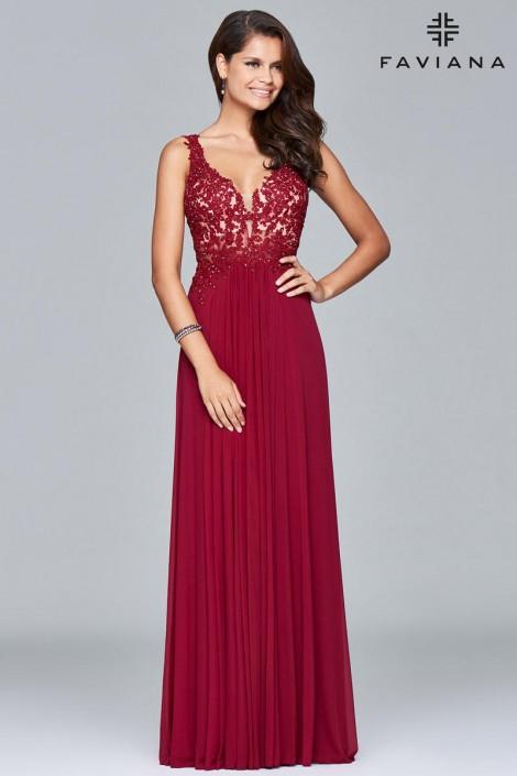 Size 6 Black Faviana 8000 Show Stopper Prom Dress: French Novelty