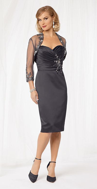 Caterina 8004 Mother of the Bride Short Dress: French Novelty