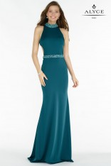 3b79e139a6959 Size 00 Forest Alyce Paris 8007 Slim Evening Gown