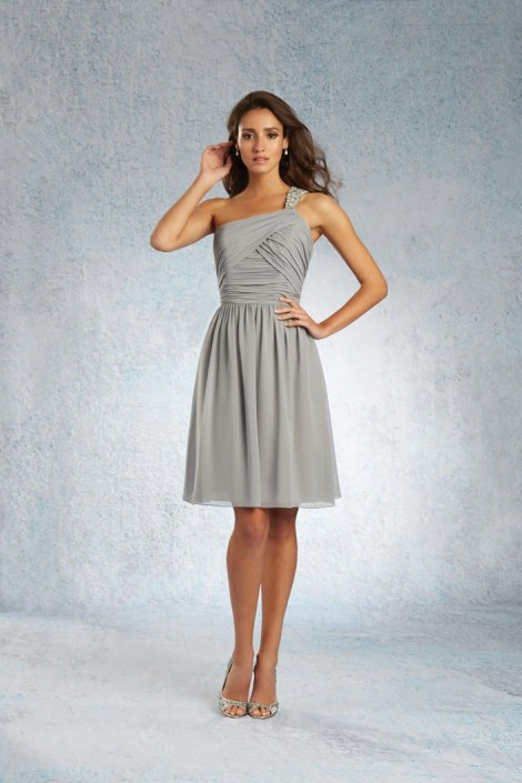 e2cf3dea7ad Sapphire by Alfred Angelo 8101S One Shoulder Bridesmaid Dress: French  Novelty