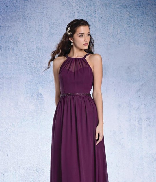 Sapphire by Alfred Angelo 8104S High Neck Bridesmaid Dress: French ...