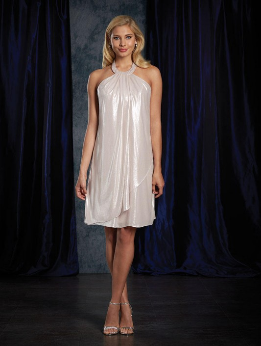 602cf9c241a Sapphire by Alfred Angelo 8121 Short Metallic Bridesmaid Dress  French  Novelty