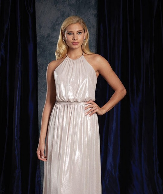 e02abe59eae Alfred Angelo Sapphire 8122S Metallic Short Bridesmaid Dress  French Novelty