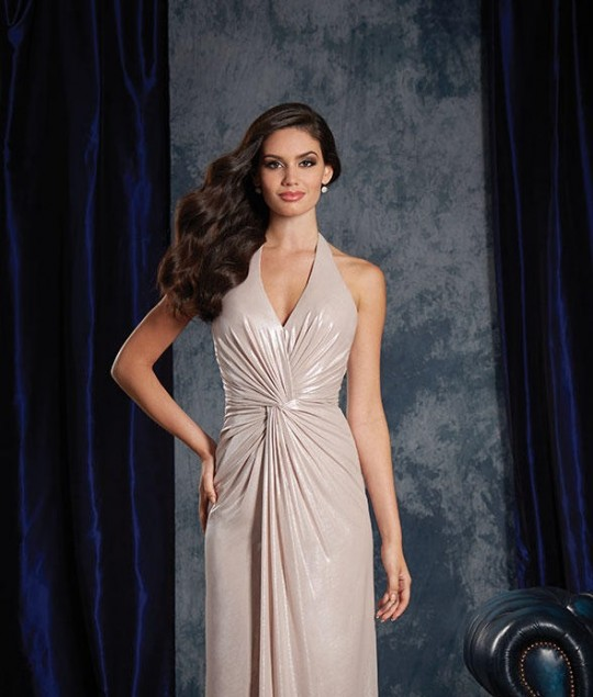 75d44fed1a7 Alfred Angelo Sapphire 8124S V Halter Short Bridesmaid Dress  French Novelty