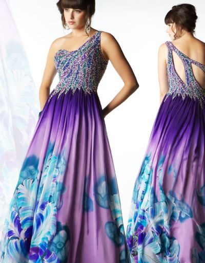 Hand Painted Dresses Hand Painted Dress 81317m