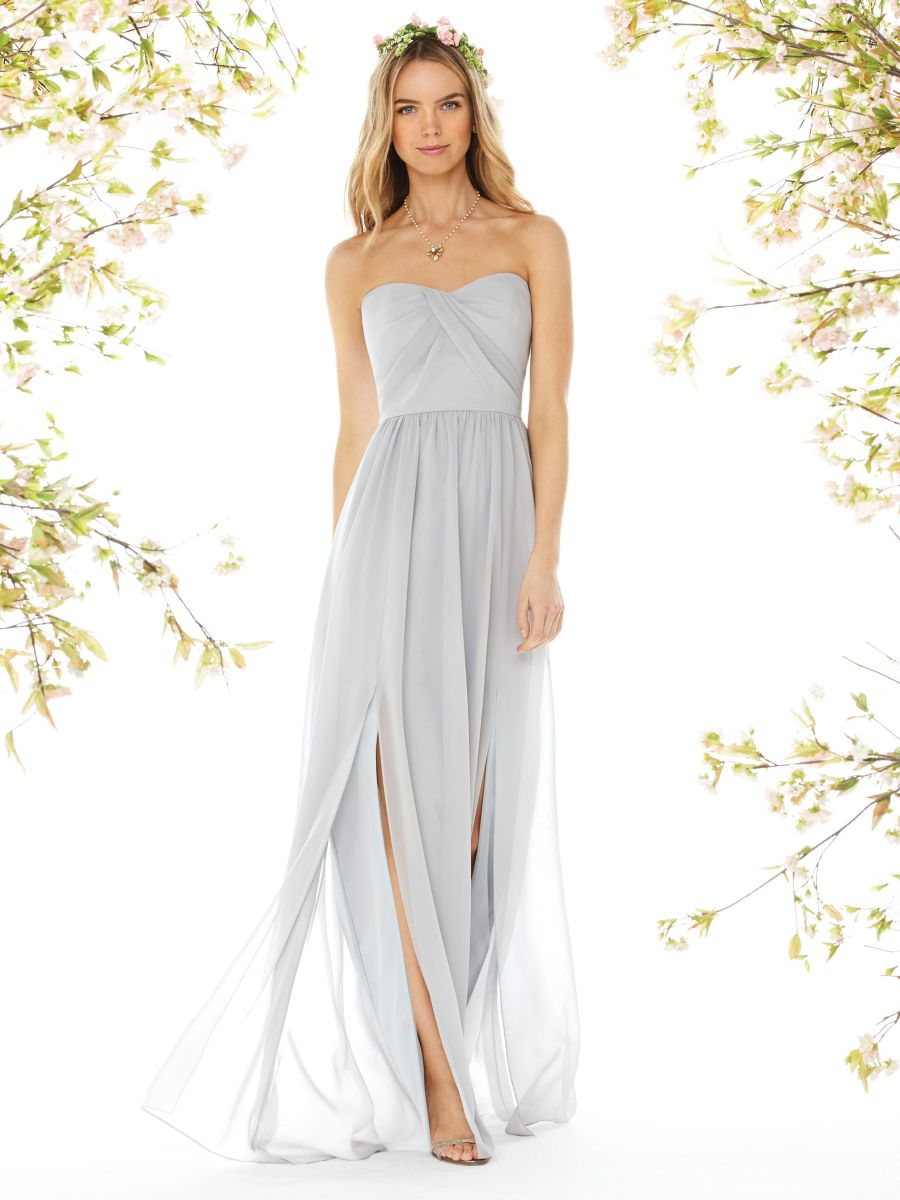 Dessy social 8159 draped bridesmaid gown with slits french novelty ombrellifo Image collections