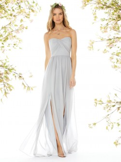 75af3682d5a Dessy Social 8159 Draped Bridesmaid Gown with Slits