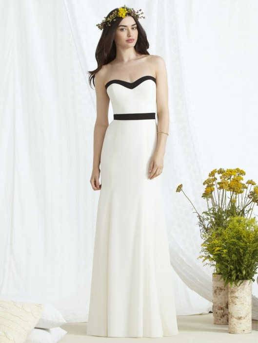 555b2752c2f Dessy Social 8164 Two Tone Bridesmaid Gown  French Novelty