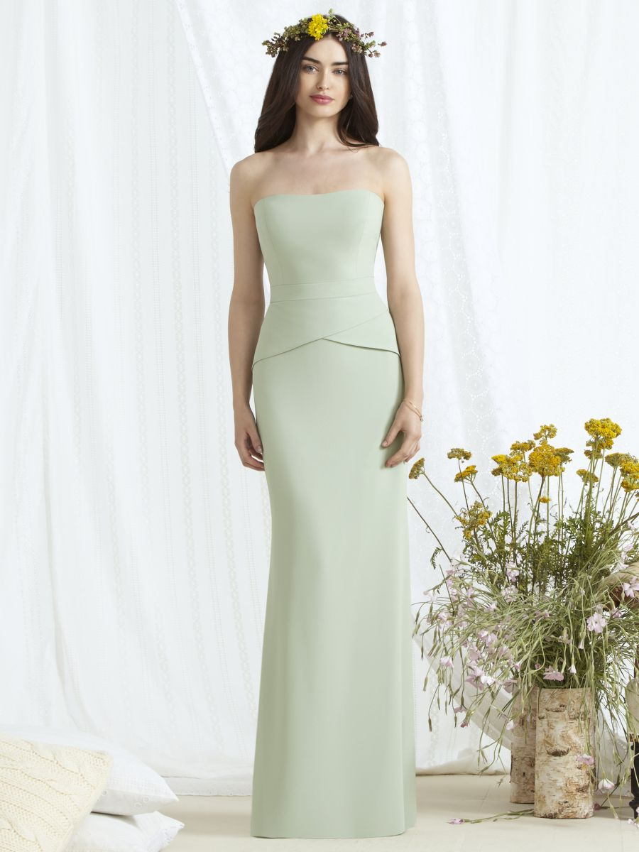 Dessy social 8165 sleek bridesmaid gown with peplum french novelty ombrellifo Choice Image