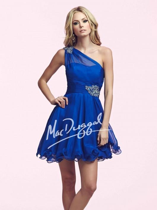2dcb32c3ef7 Mac Duggal 81703N One Shoulder Short Dress  French Novelty