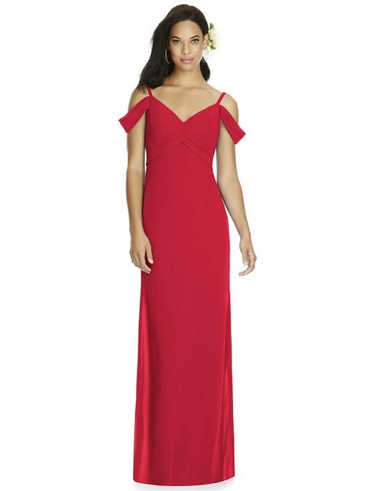 4b3b7f6a69 Dessy Social 8183 Off the Shoulder Bridesmaid Dress  French Novelty