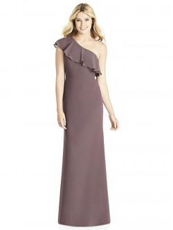 b7dfcdf33d Dessy Social 8189 Ruffle One Shoulder Bridesmaid Dress