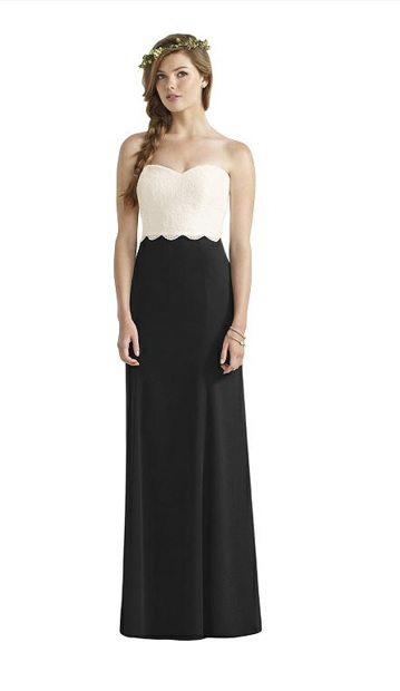 0694ce85dc678 Dessy Social 8191 Lace Top Bridesmaid Dress: French Novelty