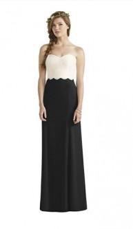32cecdb6734 Dessy Social 8191 Lace Top Bridesmaid Dress