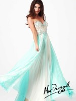 Mac Duggal 81980M Ombre Pleated Evening Dress image