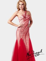 Mac Duggal 82053M Asymmetrically Beaded Gown image