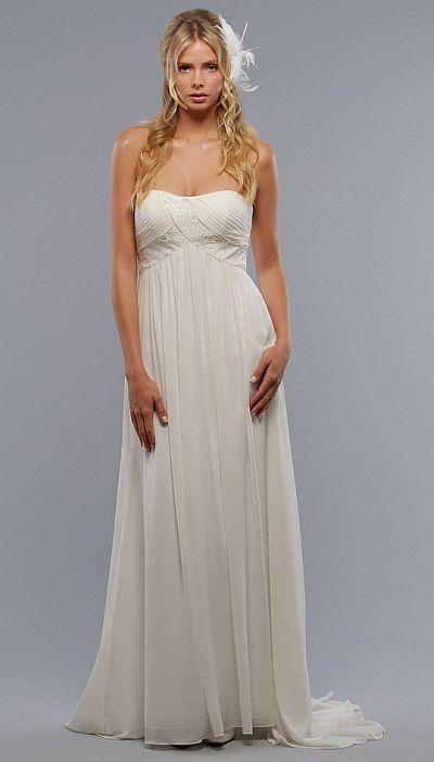 Liz Fields Destination Informal Wedding Dress 8231: French Novelty
