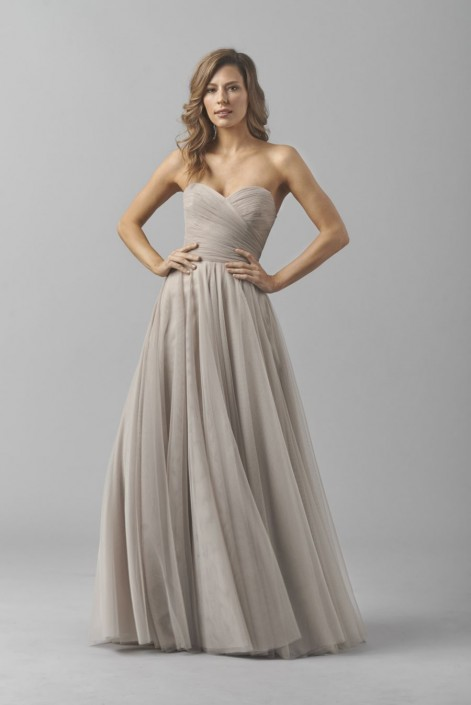 Watters 8360i Bobbinet Bridesmaid Gown: French Novelty