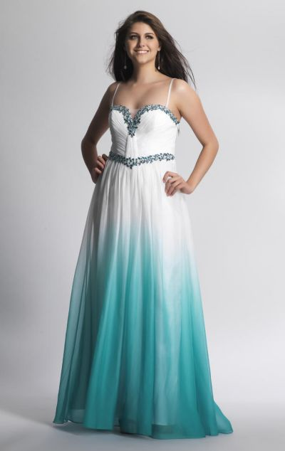 Dave And Johnny 8387 Ombre Formal Dress French Novelty